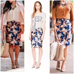 NWT J. Crew Collection No. 2 Floral Pencil Skirt